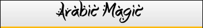 Arabic Magic font