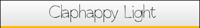 Claphappy Light font