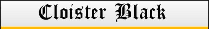 Cloister Black font