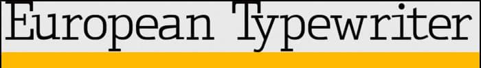 European Typewriter font