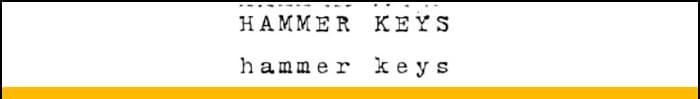 Hammer Keys font
