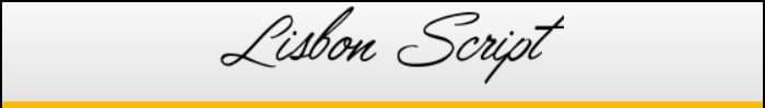 Lisbon Script font