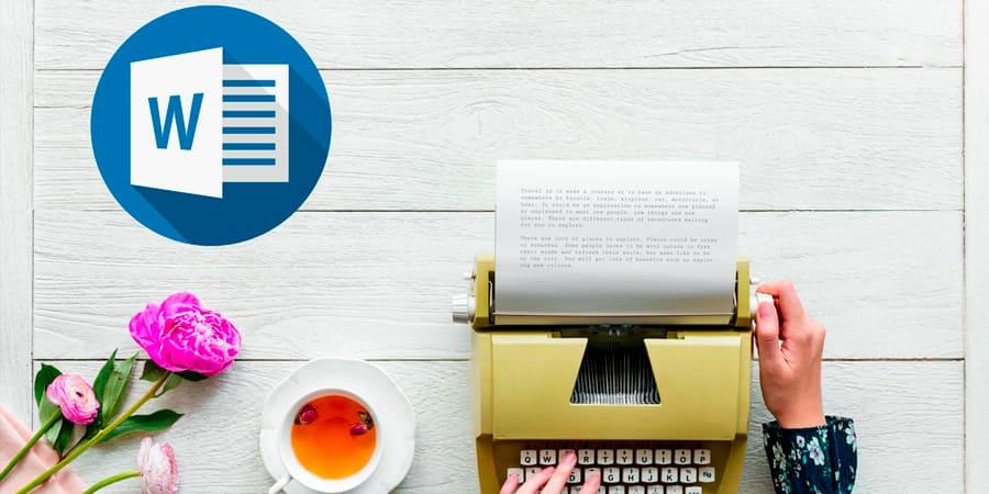 letra de maquina de escribir word