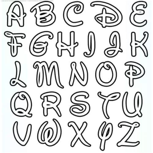 abecedario letras de disney para imprimir