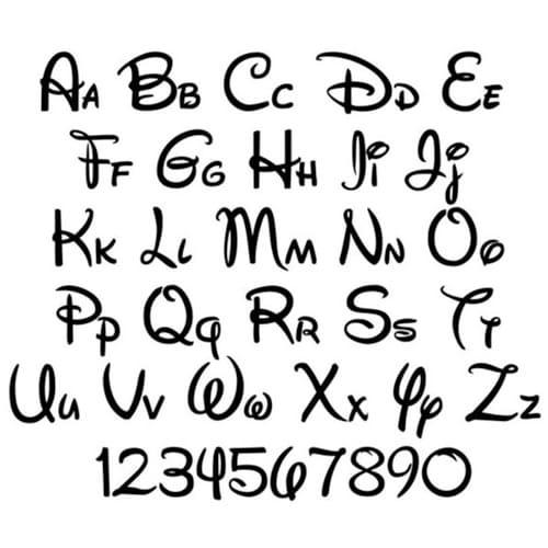 letras disney para tatuajes
