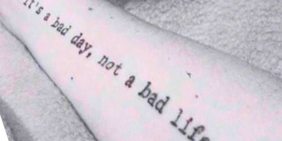 tipografia maquina de escribir tatuaje