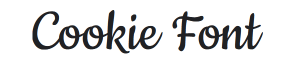 cookie font