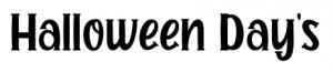 halloween days font