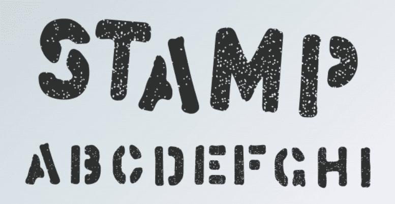 letras estilo sello