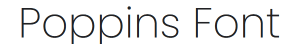 poppins font